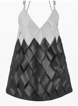 Black'n'white braided dress