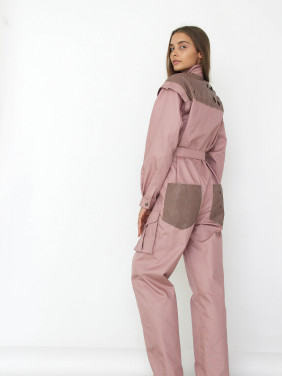 Jumpsuit with braided yoke