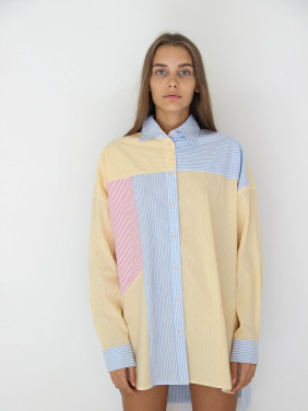Color block style shirt